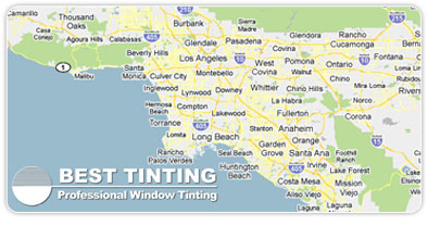 Window Tinting Los Angeles Map
