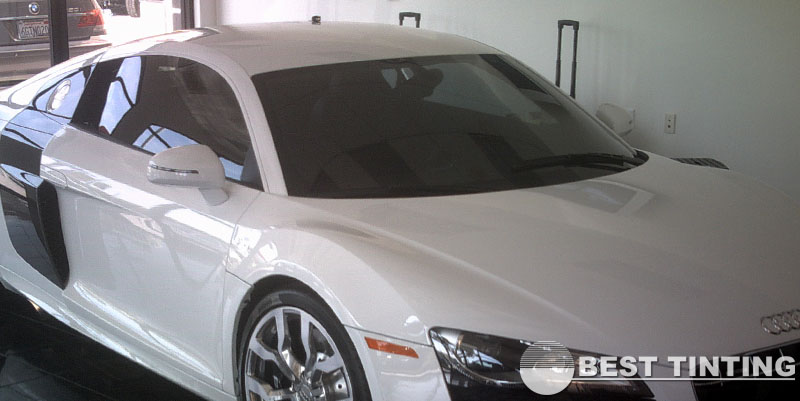Audi R8 Tinting (at a Dealership) by Best Tinting