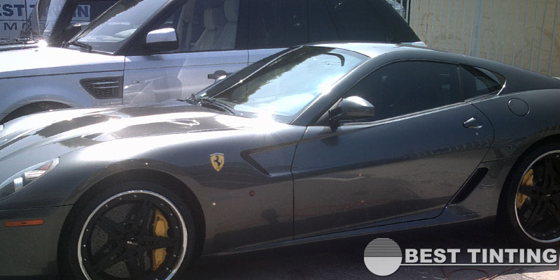 Tinted Ferrari by Best Tinting